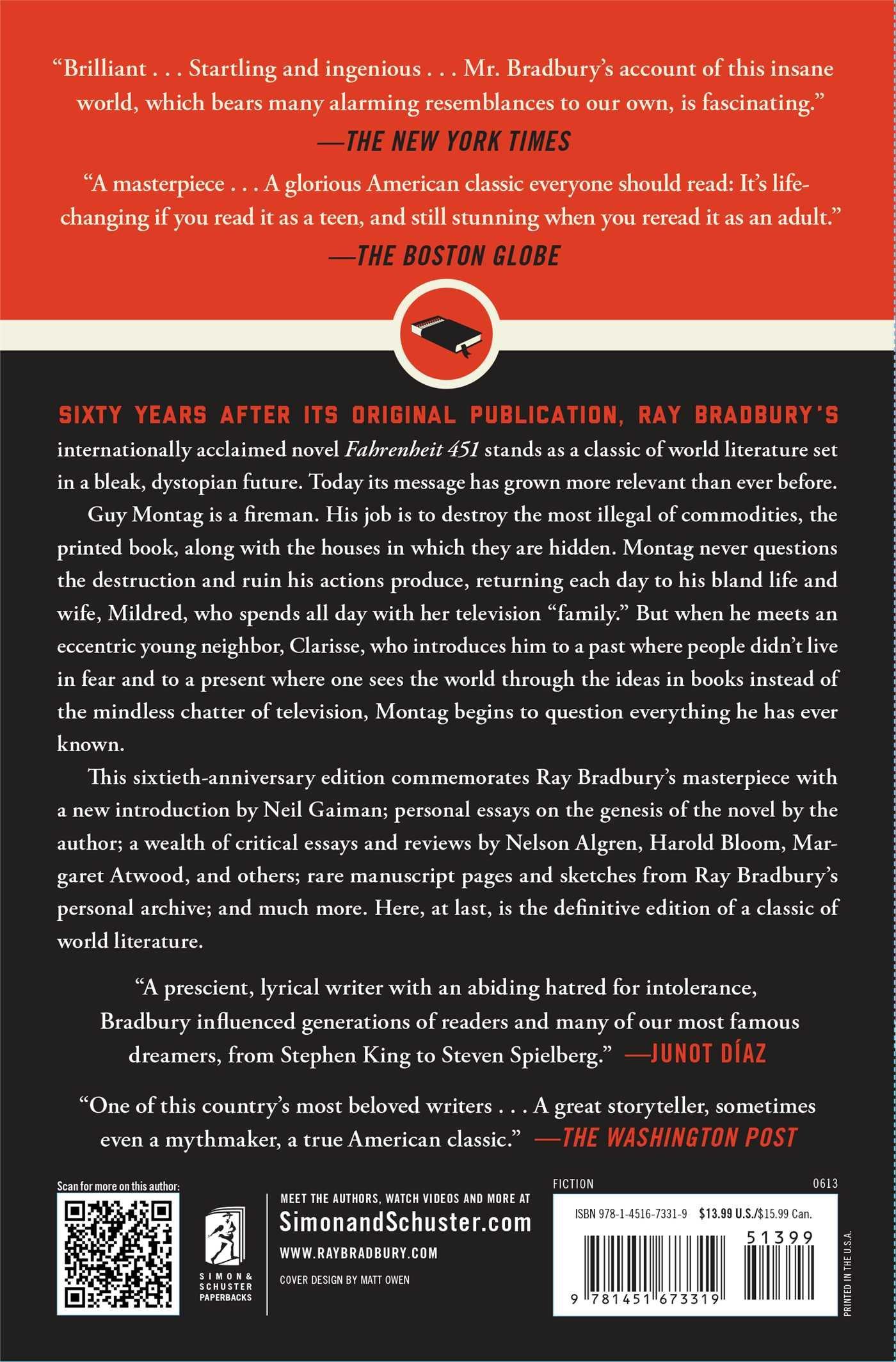 Fahrenheit 451: A Novel: Ray Bradbury: 9781451673319: Amazon.com: Books
