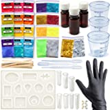 Repoxy - Resin Kit For Jewelry Making Beginner - Crystal Clear Epoxy Resin - Art Supplies Resin Charms - Resin Molds - Dye - Glitters - Tools