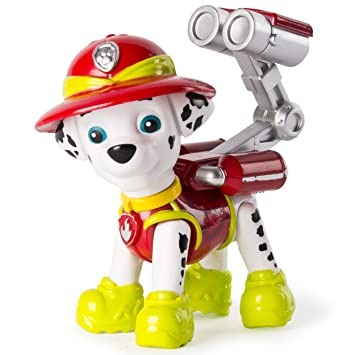 Paw Patrol : Jungle Rescue – Marcus – Figurine Articulée de la Pat'Patrouille dans la Jungle