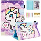 Dteck iPad Mini 1/2/3/4 Case - Slim Fit Folio Stand PU Leather Case Wallet with Auto Wake/Sleep [Magnet/Stylus Slot] Smart Cover for Apple iPad Mini 3 / iPad Mini 2 / iPad Mini 1, Little Pony (Color: 01 A Little Pony)