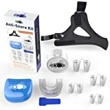 Anti Snoring Device Kit with Anti Snoring Chin Strap Includes Sleep Mouth Piece (3 Pieces)