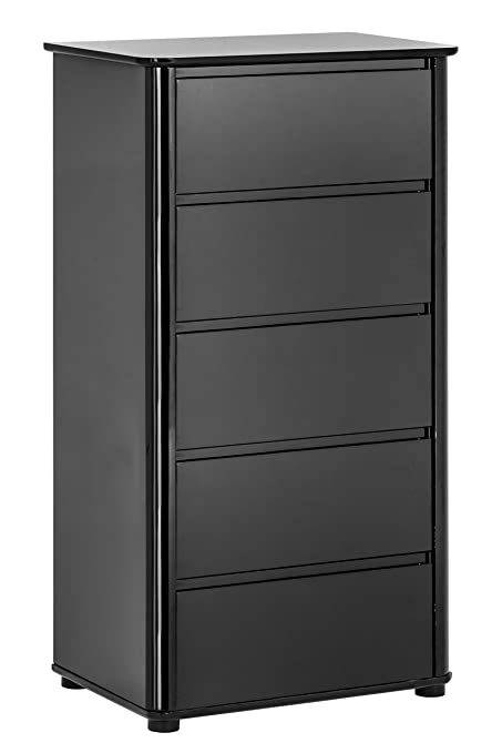 Premier Housewares 5-Drawer High Gloss Chest - Black