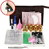 Ships From CA, USA 17 IN 1 Eyelash Lashes Curling Perming Extra longer Glue Perm Perming Solution Full Tools with Case (Color: Ivory/Pink)