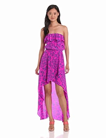 Amanda Uprichard Women's Aloha Dress, Pink Alba Print, Petite