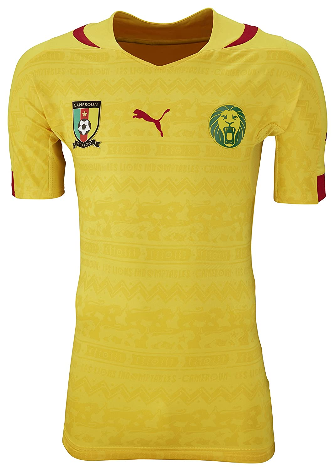 Puma Cameroon Away Jersey World Cup 2014 Yellow