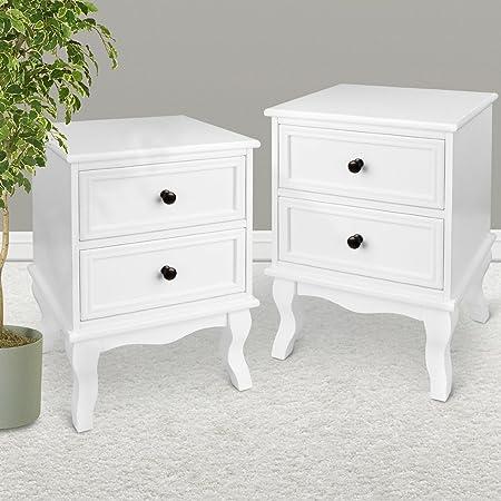 Par de mesas Mesita de noche de madera armario nightstands mesas, muebles de dormitorio