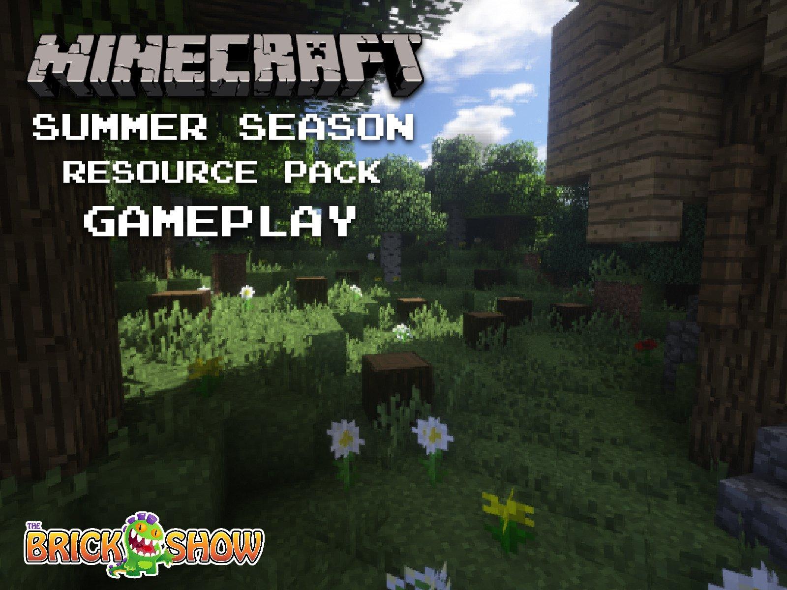 Clip: Minecraft Summer Season Resource Pack Gameplay