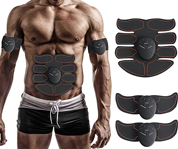 057018fa1f Muscle Toner, Abdominal Toning Belt, EMS ABS Trainer Wireless Body Gym Workout  Home Office Fitness Equipment ...