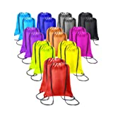 20 Pieces Drawstring Backpack Sport Bags Cinch Tote Bags for Traveling and Storage (10 Colors C, Size 1) (Color: 10 Colors C, Tamaño: Size 1)