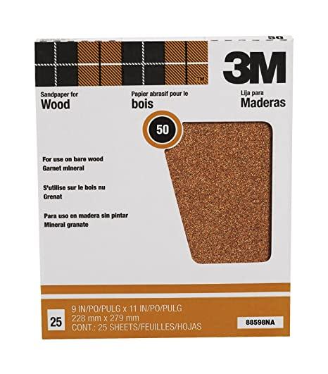 [Amazon.ca]3M Pro-Pak Garnet Sanding Sheets, 9-Inch by 11-Inch, 50D-Grit - $6.05