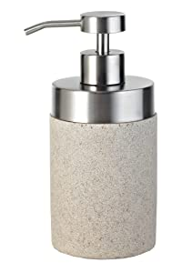 Ridder 22010511 Stone - Dispensador de jabón, color crudo   Revisión del cliente y la descripción más