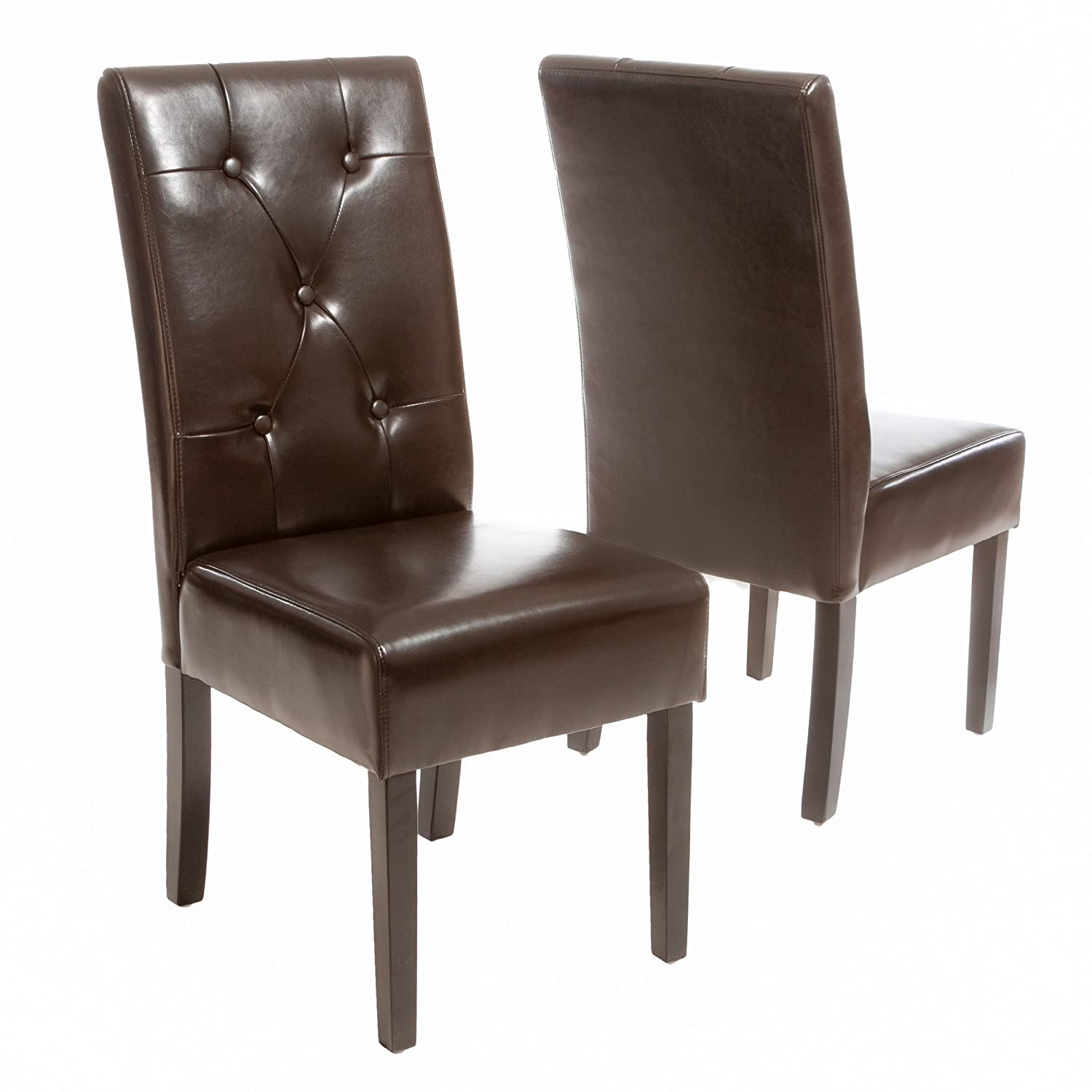 Best Selling Tristan Bonded Leather Dining Chair, Brown, Set of 2 best selling high quality organic spirulina extract 60