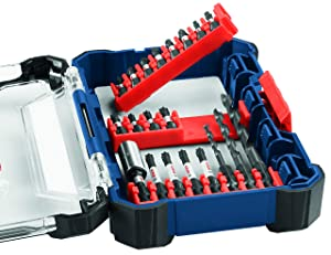 Bosch 24 Piece Impact Tough Screwdriving Custom Case System Set SDMS24 (Tamaño: 24-Piece Set)