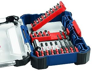 Bosch 24 Piece Impact Tough Screwdriving Custom Case System Set SDMS24 (Tamaño: 24-Piece Set)