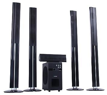 Blaupunkt LS 251 Enceintes actives 5.1 avec enceintes arrières sans fil et caisson de basses, HDMI, DVD/CD/MP3, 100 W RMS