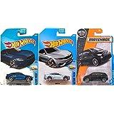 Hot Wheels & Matchbox BMW Collection '15 Matchbox i3 Black + M4 Series Blue Factory Fresh #154 2017 + #55 M4 Dark Blue in Protective Cases Bundle (Color: Orange)