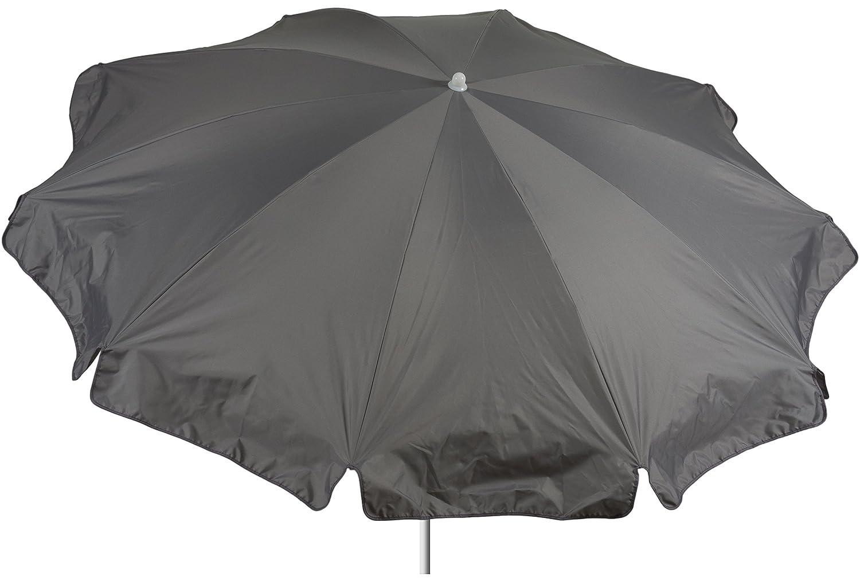 beo Sonnenschirme wasserabweisender, rund, Durchmesser 200 cm, Grau günstig