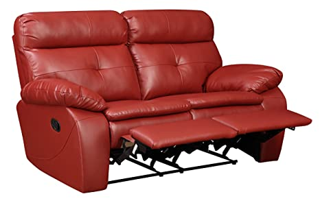 Glory Furniture G570-RL Reclining Loveseat, Red