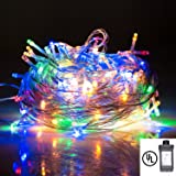 String Lights,Bienna UL Listed Plug In 200 LED 100 ft/30M Multi Color Starry Fairy Lighting [8 Modes] [Waterproof] for Bedroom Outdoor Indoor Patio Home Christmas Xmas Holiday Wedding Party-Multicolor (Color: Colorful)