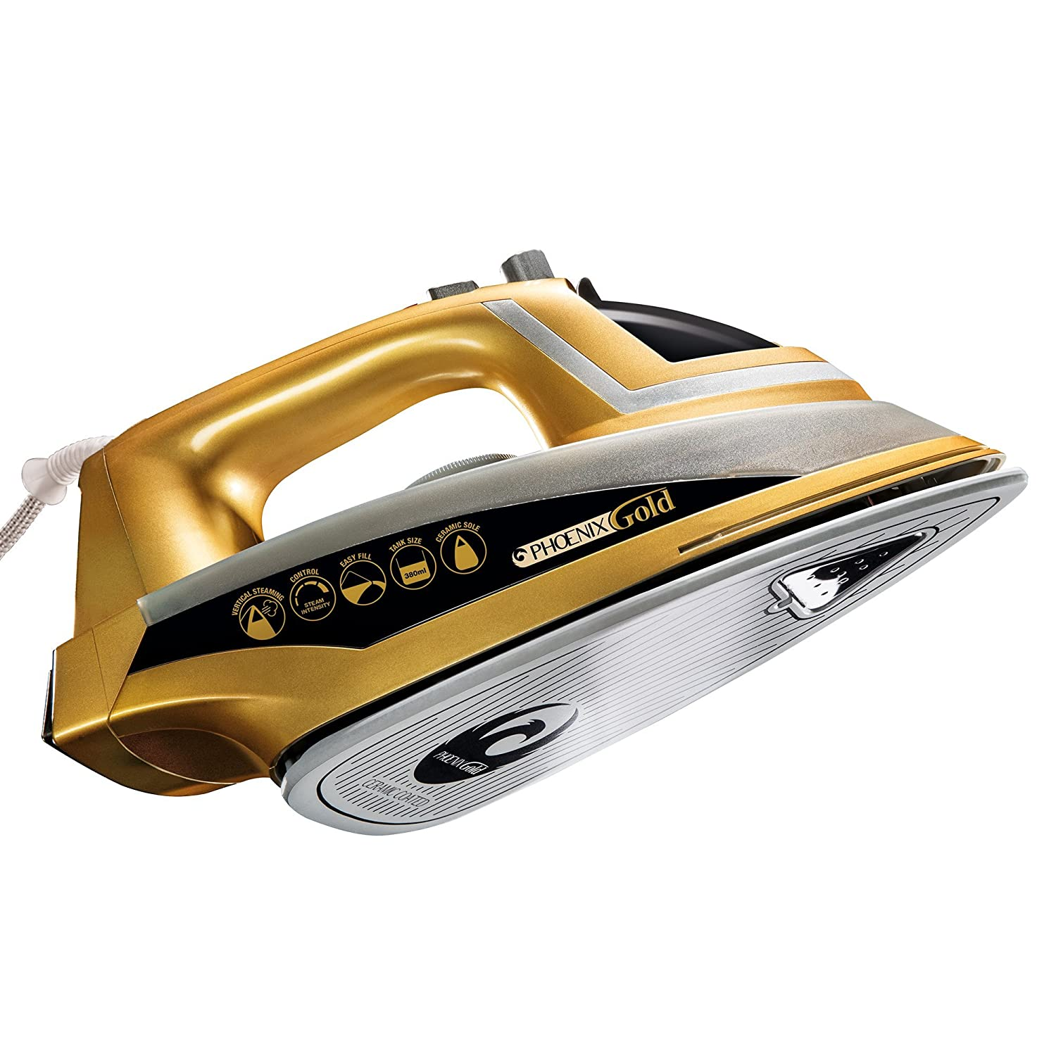 Jml Jml Phoenix Gold Ceramic Iron With Built-In Steam