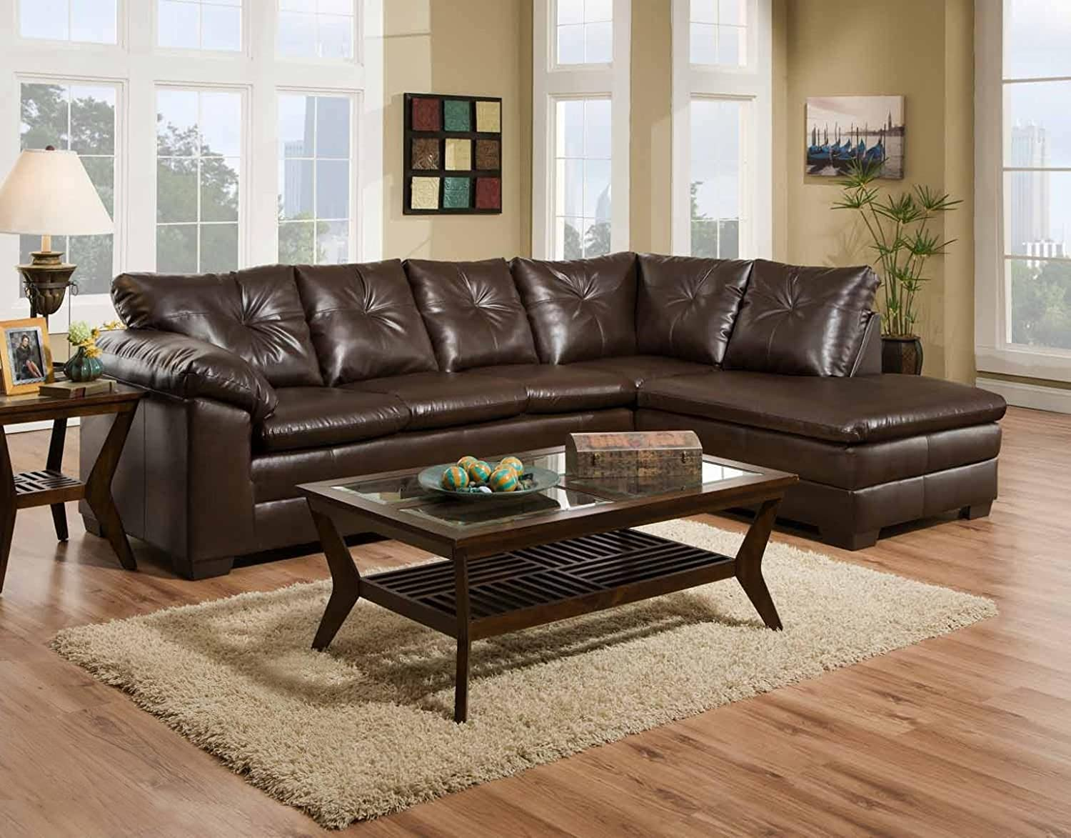 Chelsea Home Furniture Rho 2-Piece Sectional - Freeport Brown