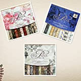 S&B Scrapbook Paper Book Pad 12 x 12-inches Classic Decoupage Paper Supplies, 3-Pack(Blue, Rose and Gray/Black) (Color: Mixin3, Tamaño: 12