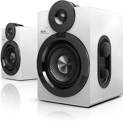 Philips BTS5000W/10 Enceintes stéréo sans fil Bluetooth Apt-X AAC avec basses profondes 100W