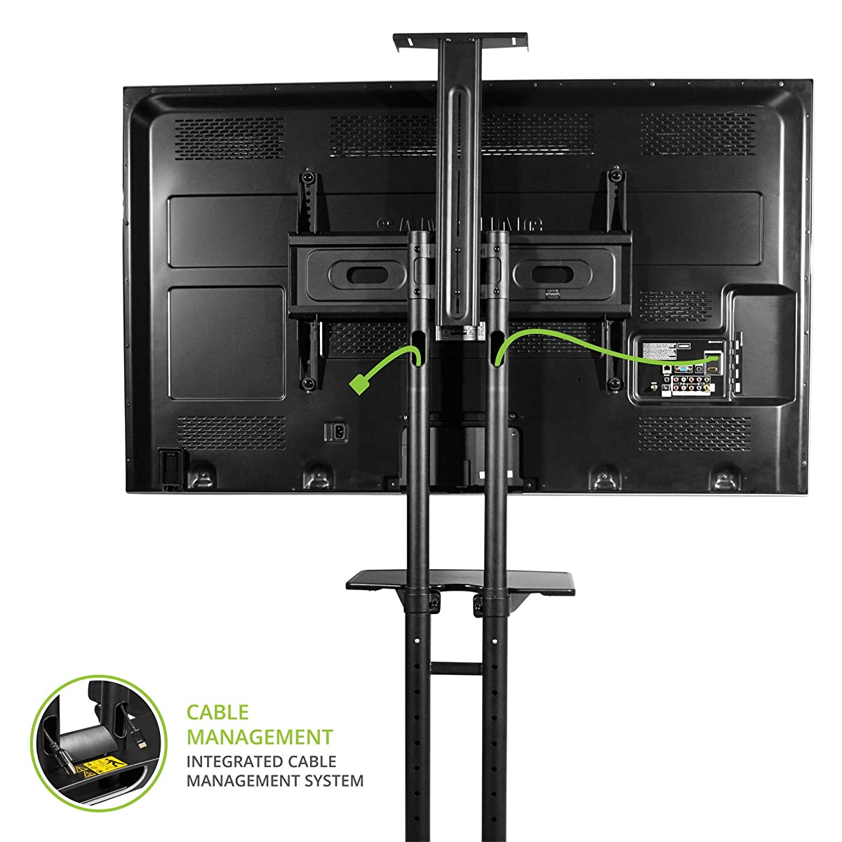 Kanto Mtm65pl Mobile Tv Stand With Mount For 37 To 65 Inch