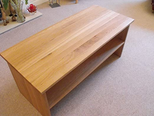 Solid end Coffee table with shelf, 800x450mm, ideal for the living room or conservatory