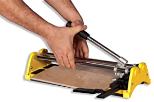 QEP 10214Q 14 in. Rip Ceramic Tile Cutter with 1/2 in. Cutting Wheel, (Color: yellow, Tamaño: 1-(Pack))