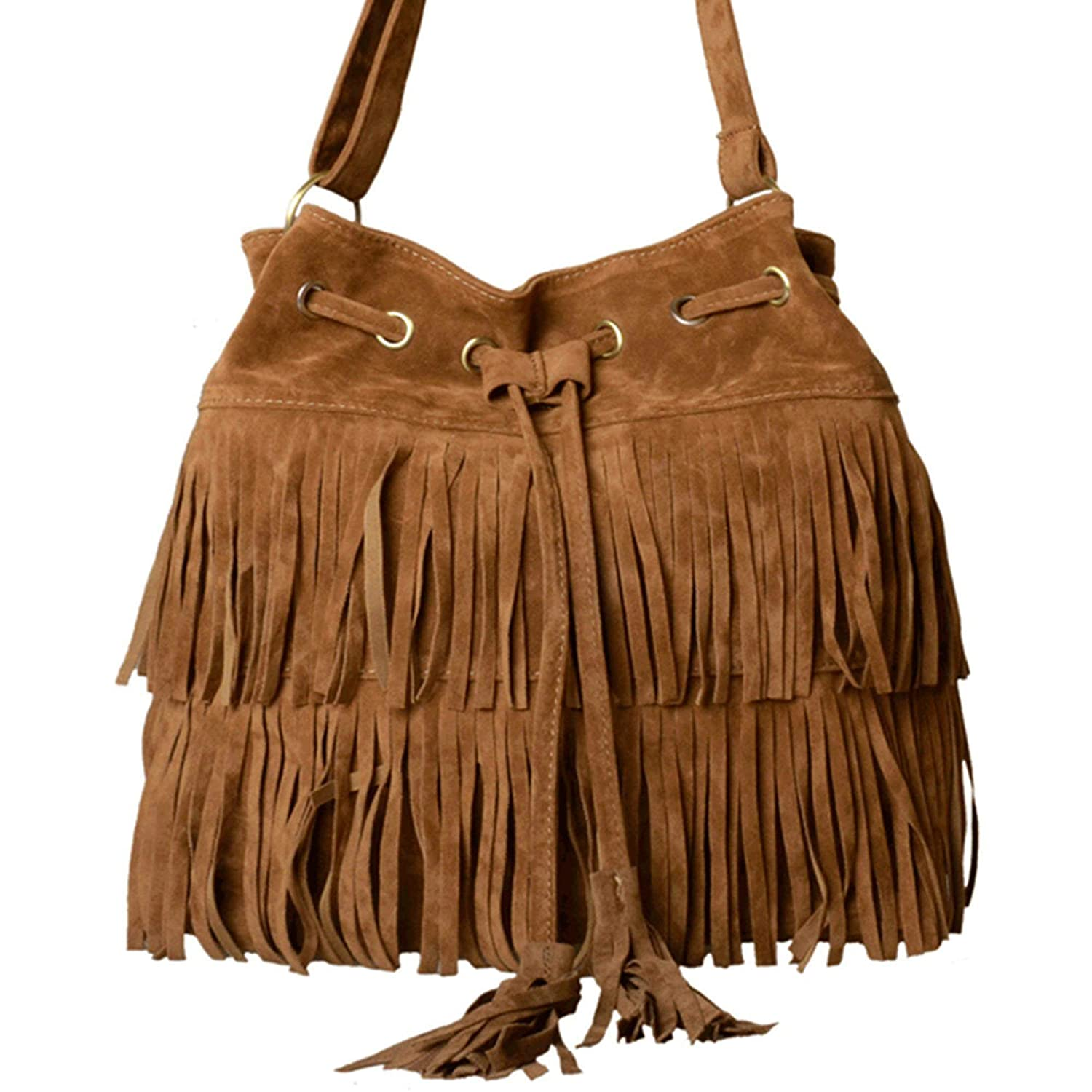 Fringed Suede Shoulder Bag 8