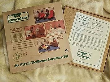 30-Piece Wooden Dollhouse Furniture Kit by Greenleaf Billiards