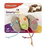 SmartyKat Skitter Critters Cat Toy Catnip Mice, 3/pkg (Color: Gray, Beige, Tamaño: 3 Pack)