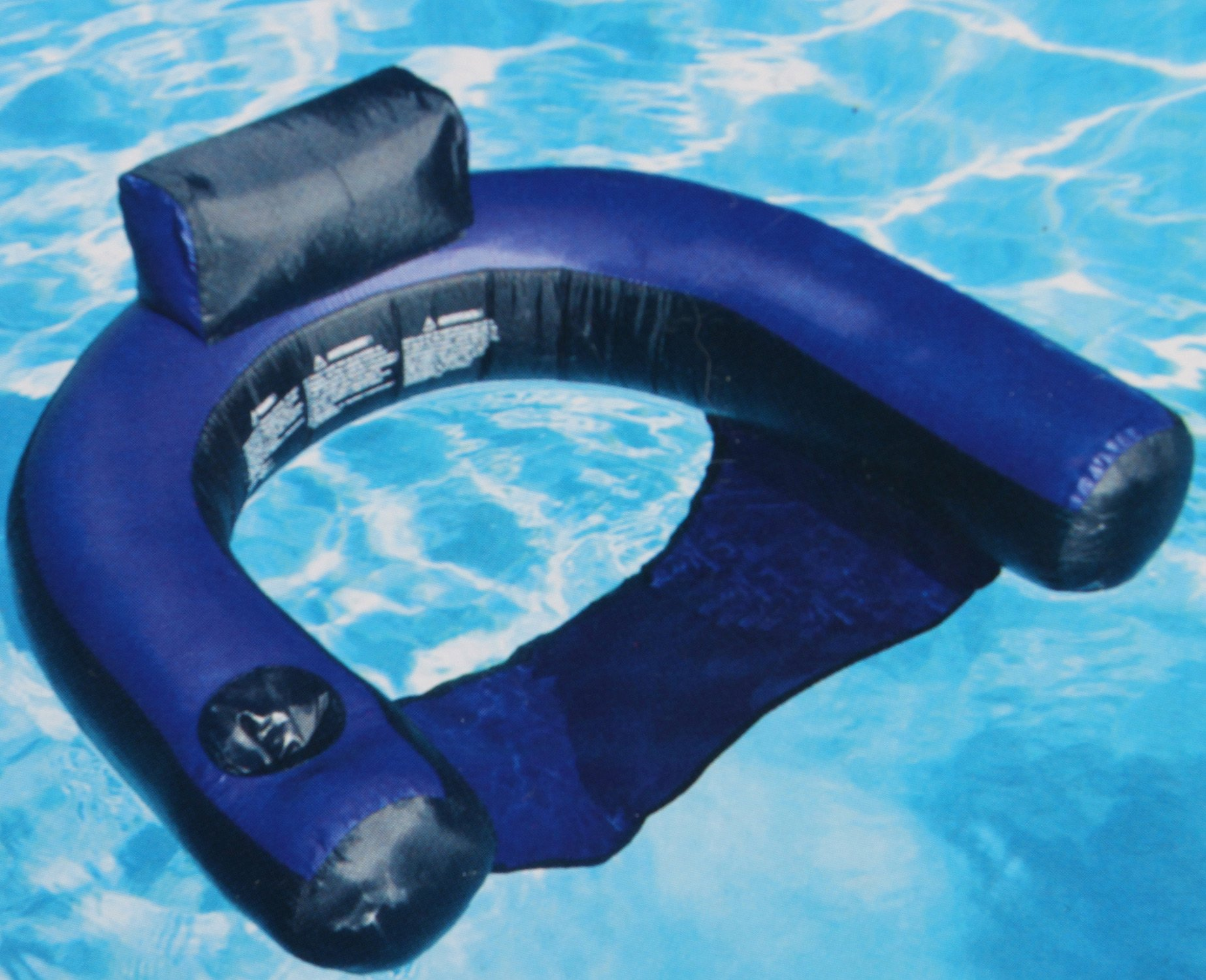 Swimline fabric covered pool inflatable chair lounger - Swimming pool floating lounge chairs ...