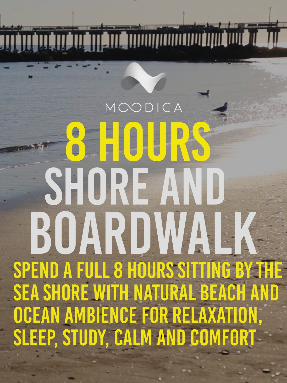 8 Hours: Shore and Boardwalk: Spend A Full 8 Hours Sitting By The Seas Shore With Natural Beach and Ocean Ambience for Relaxation, Sleep, Study, Calm and Comfort