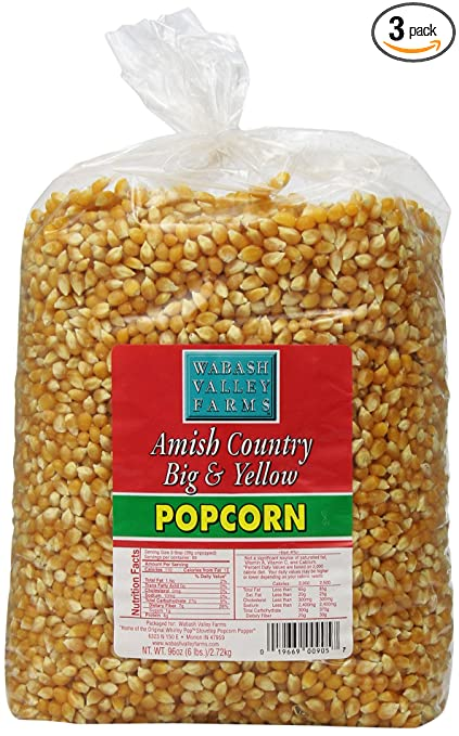 Wabash Valley Farms Amish Country Gourmet Popping Corn Via Amazon