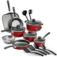 Tramontina PrimaWare 18-Piece Nonstick Cookware Set (Red)