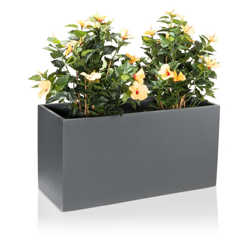 pflanzk bel blumentrog visio fiberglas blumenk bel farbe grau matt gro er wetter und. Black Bedroom Furniture Sets. Home Design Ideas