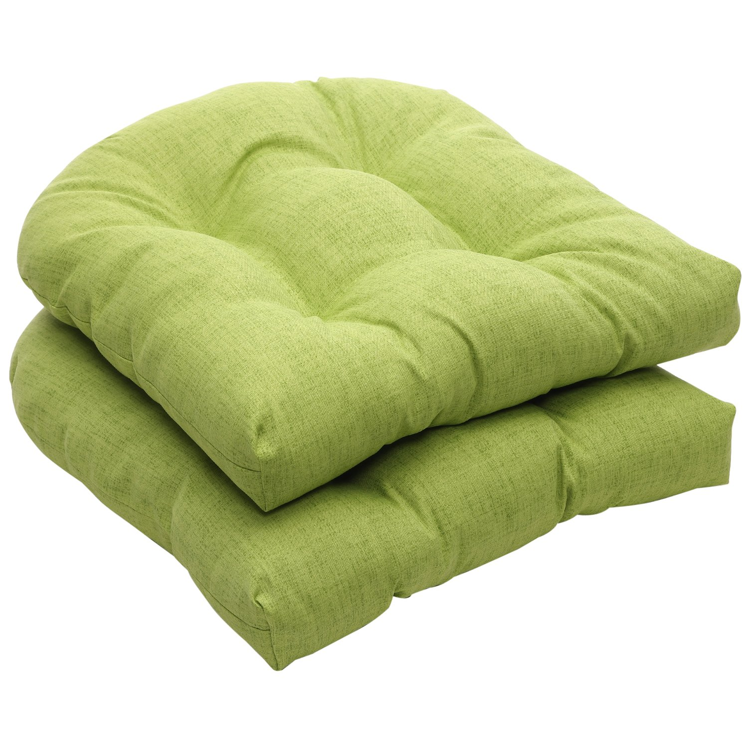 perfect indoor outdoor green textured solid wicker seat cushions