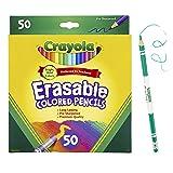 Crayola Erasable Colored Pencils, Coloring Book Essentials, 50Count, Gift