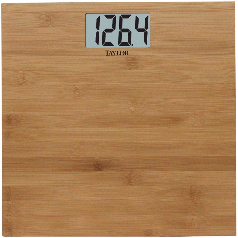Taylor 8657-4242 Natural Bamboo Digital Bathroom Scale