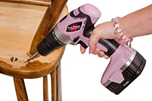 Pink Power PP182 18V Cordless Drill Set for Women- Tool Case, 18 Volt Drill, Charger and 2 Batteries via Amazon