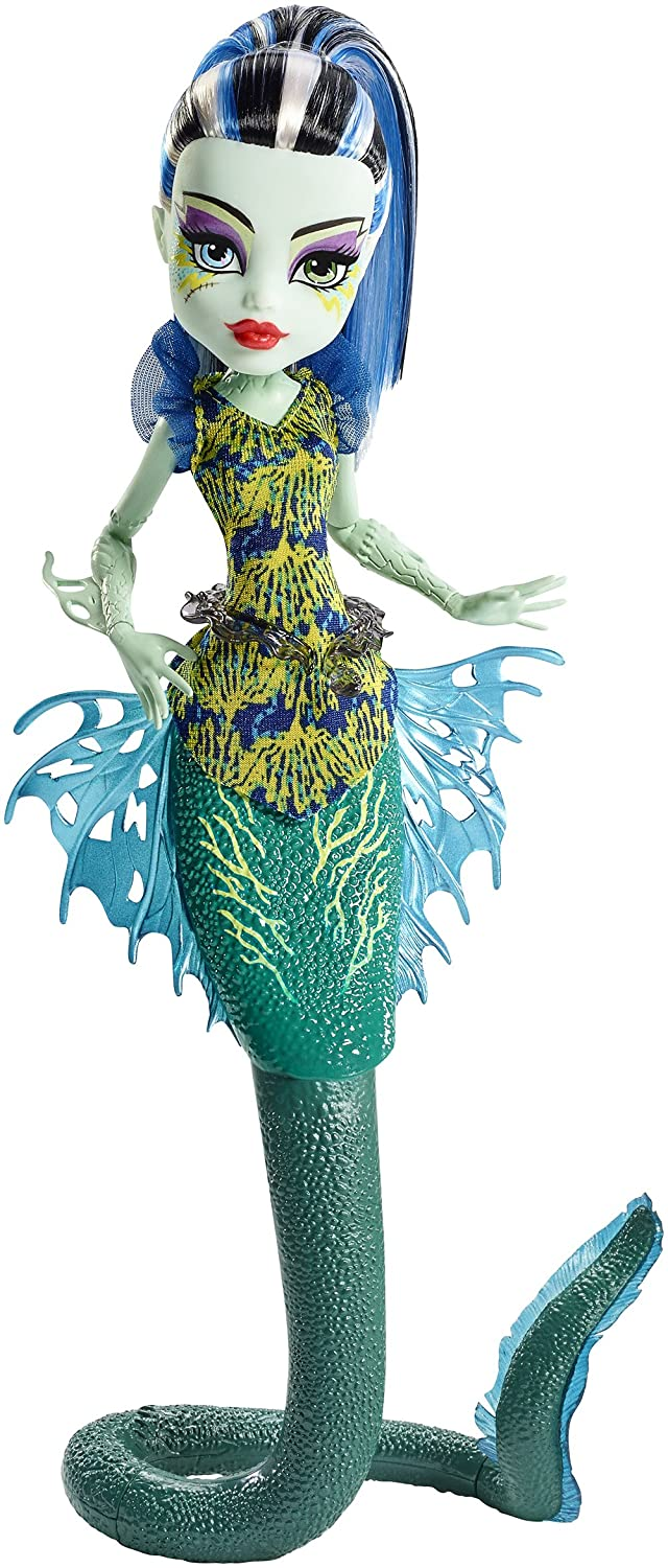 Monster High Great Scarrier Reef Glowsome Ghoulfish Frankie Stein Doll