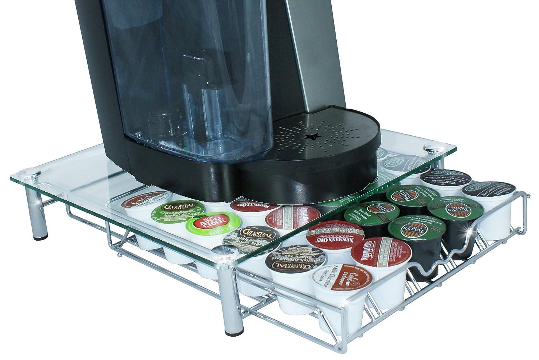 NEW DecoBros Crystal Glass Coffee Storage Drawer Holder ...