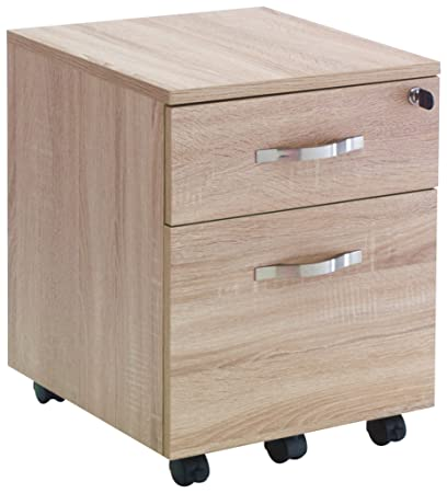Wink Design Set-Up Cassettiera con Ruote, Legno, Rovere Chiaro, 40 x 44 x 52 cm