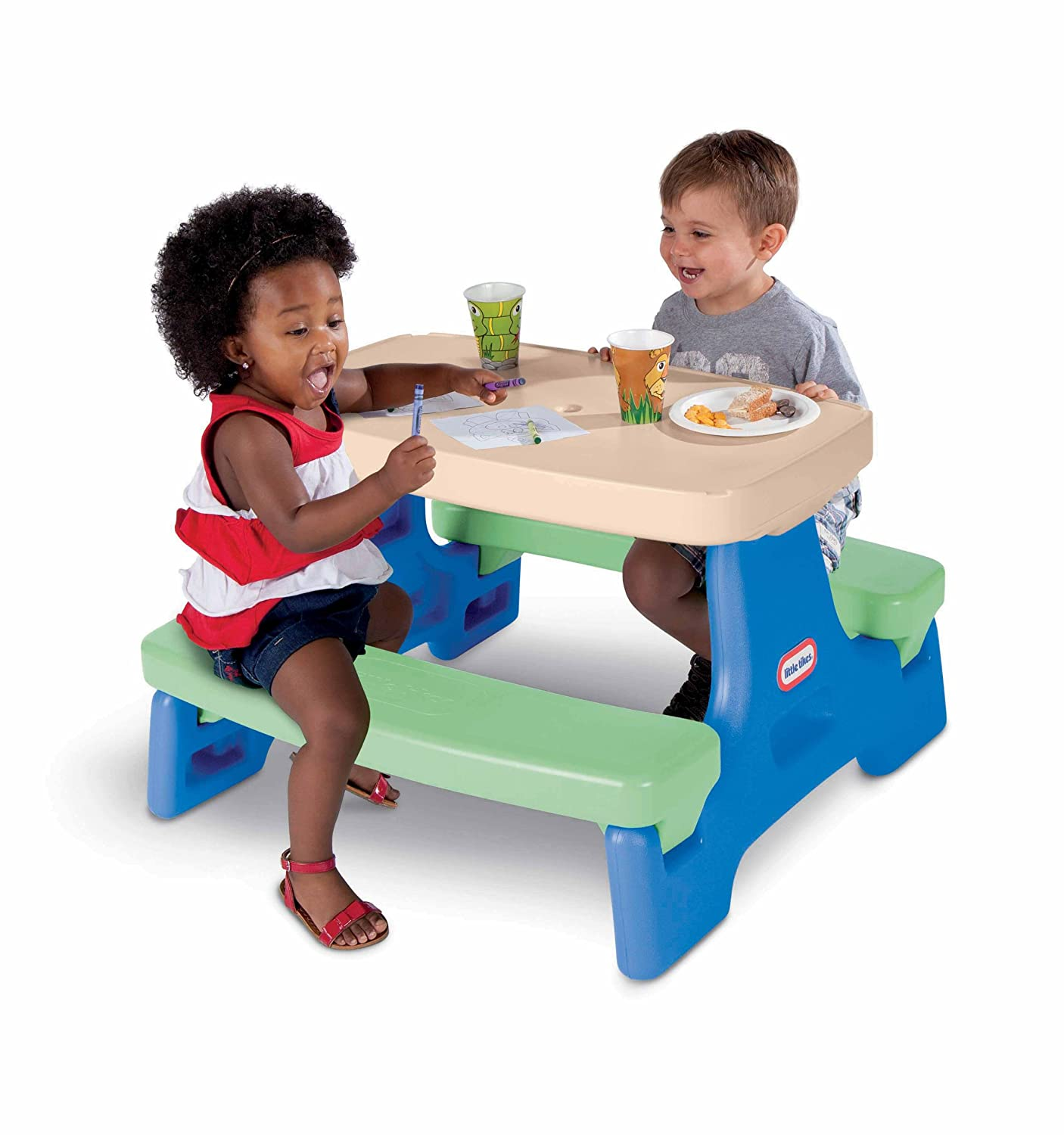 An Image of Little Tikes Easy Store Junior Play Table