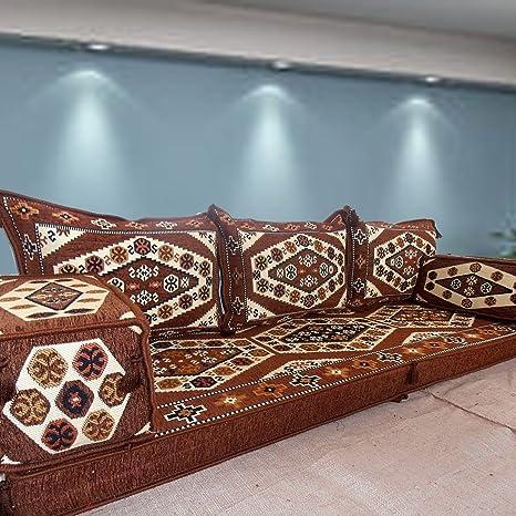 Sofá de piso Sofá de esquina Cojines para asientos en el piso mueble del salón Majlis árabe oriental
