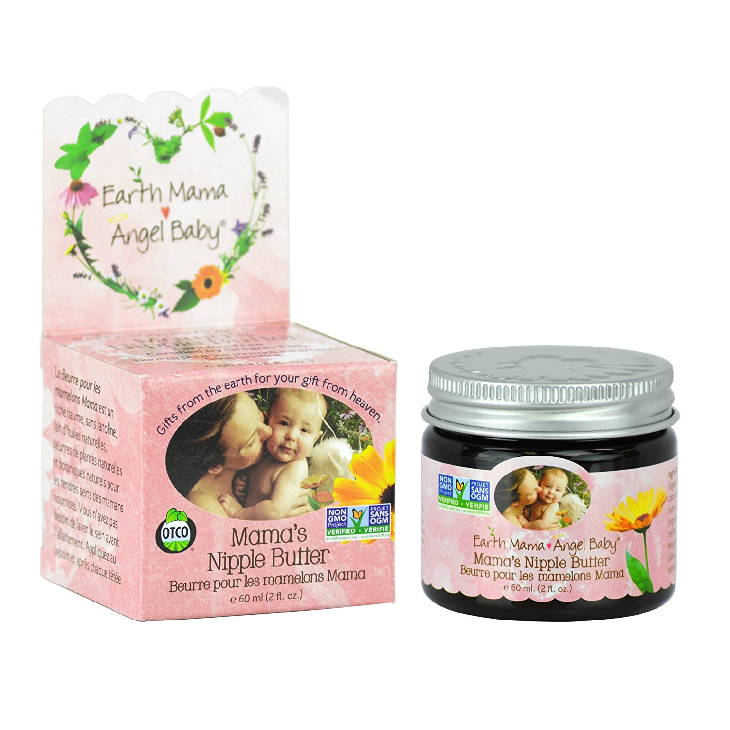 Earth Mama Angel Baby Non-GMO Natural Nipple Butter Nursing Cream