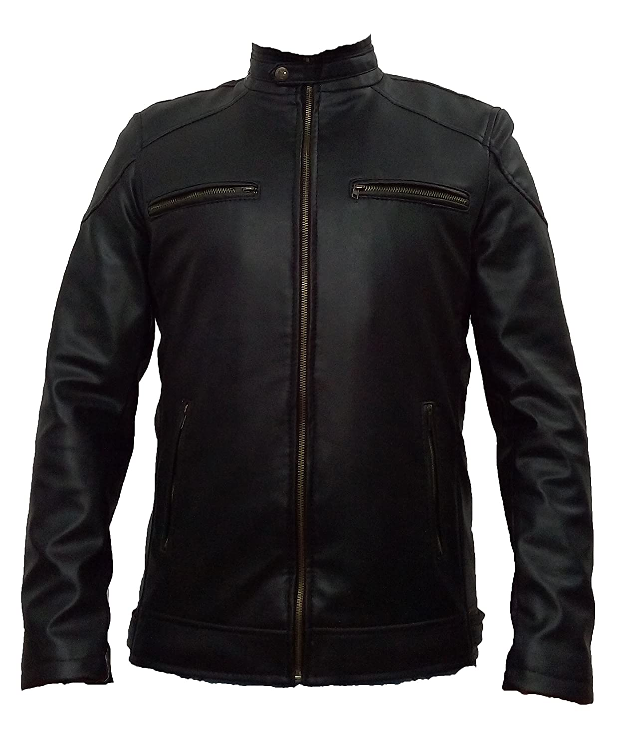 Faux leather Stylish Men's Winter Jacket