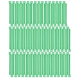 Pasow 100pcs Reusable Fastening Cable Ties Adjustable Wire Management (8 Inch, Green) (Color: Green, Tamaño: 8 Inch)